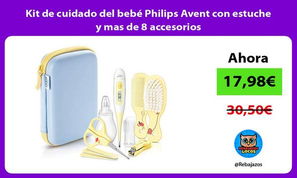 Kit de cuidado del bebé Philips Avent con estuche y mas de 8 accesorios