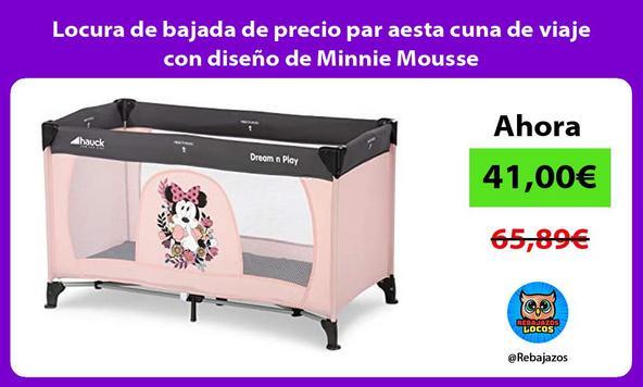 Locura de bajada de precio par aesta cuna de viaje con diseño de Minnie Mousse