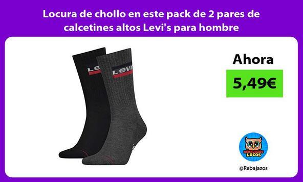 Locura de chollo en este pack de 2 pares de calcetines altos Levi's para hombre
