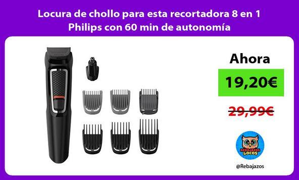 Locura de chollo para esta recortadora 8 en 1 Philips con 60 min de autonomía