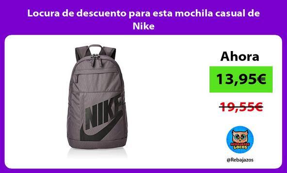 Locura de descuento para esta mochila casual de Nike