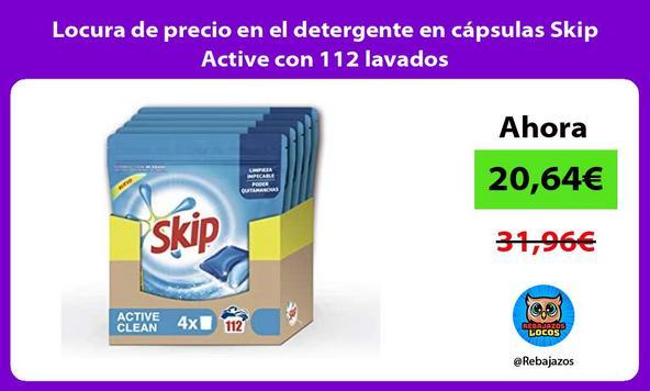 Locura de precio en el detergente en cápsulas Skip Active con 112 lavados