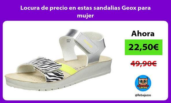 Locura de precio en estas sandalias Geox para mujer