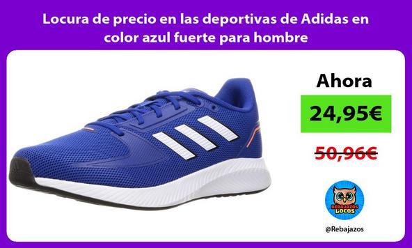 Locura de precio en las deportivas de Adidas en color azul fuerte para hombre