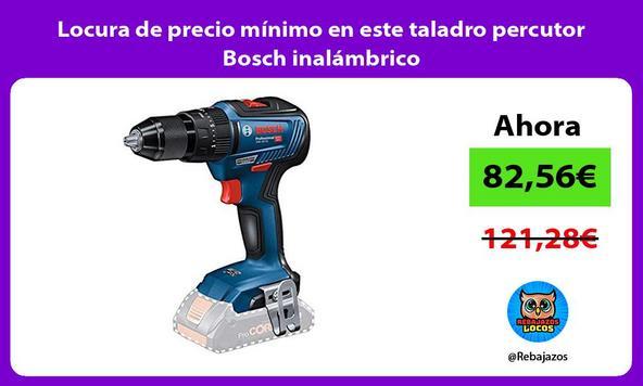 Locura de precio mínimo en este taladro percutor Bosch inalámbrico