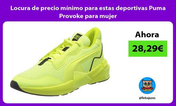 Locura de precio mínimo para estas deportivas Puma Provoke para mujer