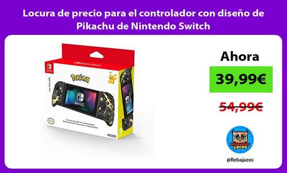 Locura de precio para el controlador con diseño de Pikachu de Nintendo Switch
