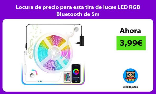 Locura de precio para esta tira de luces LED RGB Bluetooth de 5m