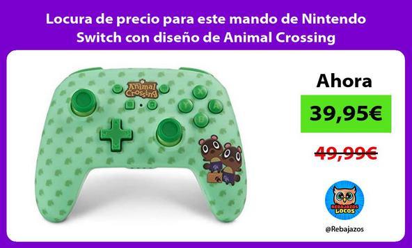 Locura de precio para este mando de Nintendo Switch con diseño de Animal Crossing