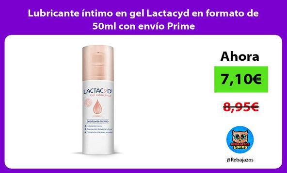Lubricante íntimo en gel Lactacyd en formato de 50ml con envío Prime