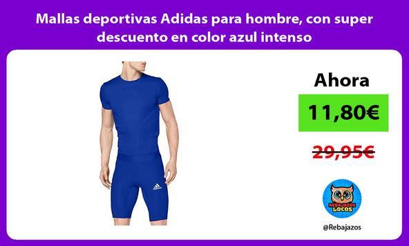 Mallas deportivas Adidas para hombre, con super descuento en color azul intenso