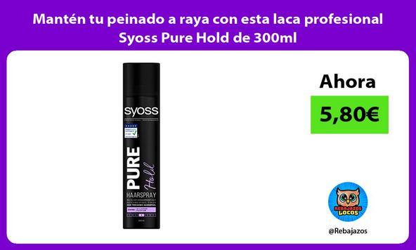 Mantén tu peinado a raya con esta laca profesional Syoss Pure Hold de 300ml