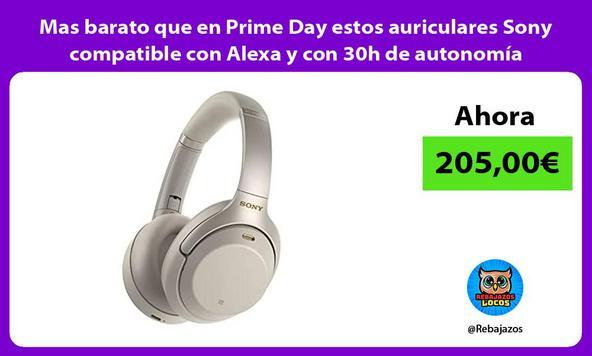 Mas barato que en Prime Day estos auriculares Sony compatible con Alexa y con 30h de autonomía