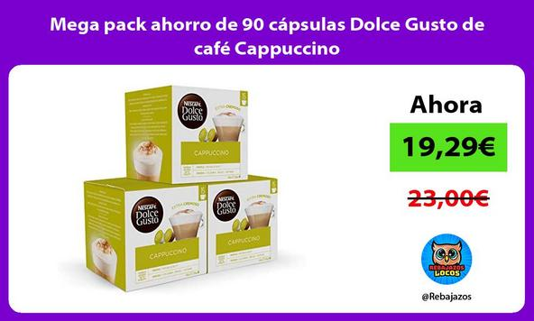 Mega pack ahorro de 90 cápsulas Dolce Gusto de café Cappuccino