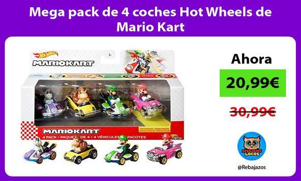 Mega pack de 4 coches Hot Wheels de Mario Kart