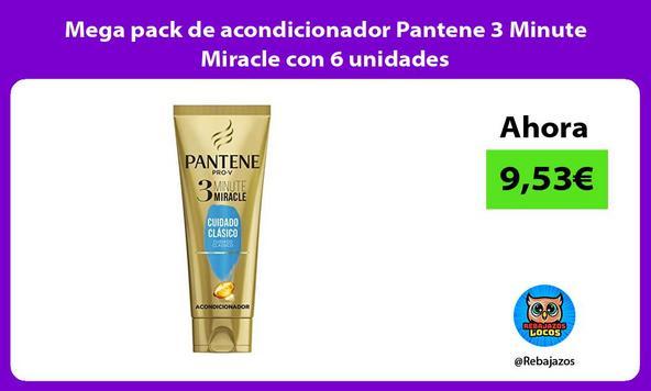 Mega pack de acondicionador Pantene 3 Minute Miracle con 6 unidades