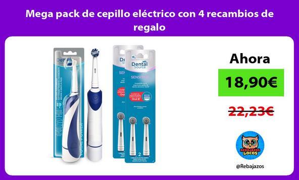 Mega pack de cepillo eléctrico con 4 recambios de regalo