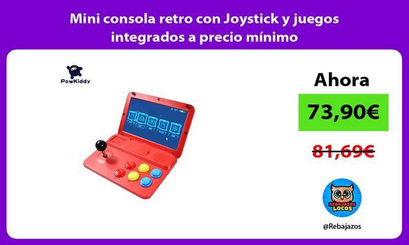 Mini consola retro con Joystick y juegos integrados a precio mínimo