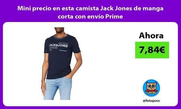 Mini precio en esta camista Jack Jones de manga corta con envío Prime