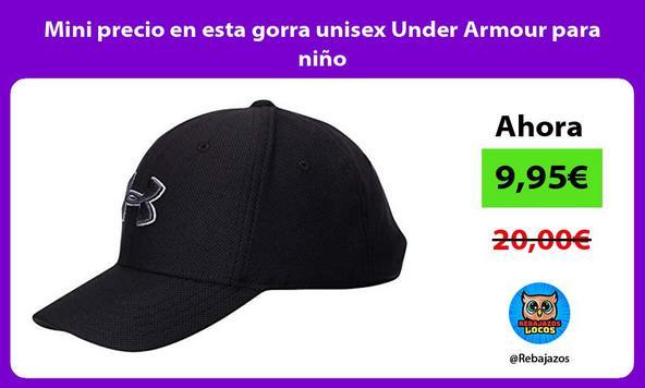Mini precio en esta gorra unisex Under Armour para niño