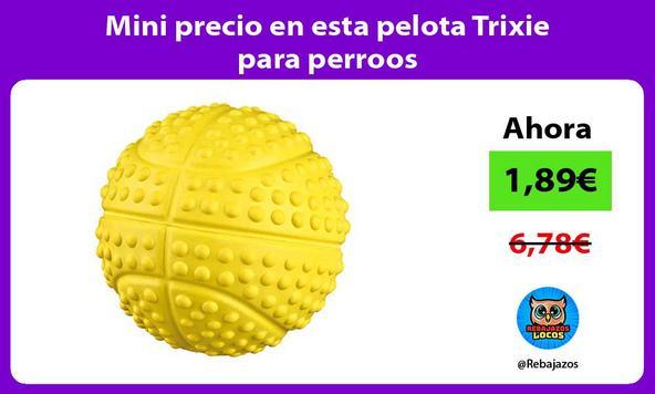 Mini precio en esta pelota Trixie para perroos