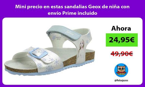 Mini precio en estas sandalias Geox de niña con envío Prime incluido