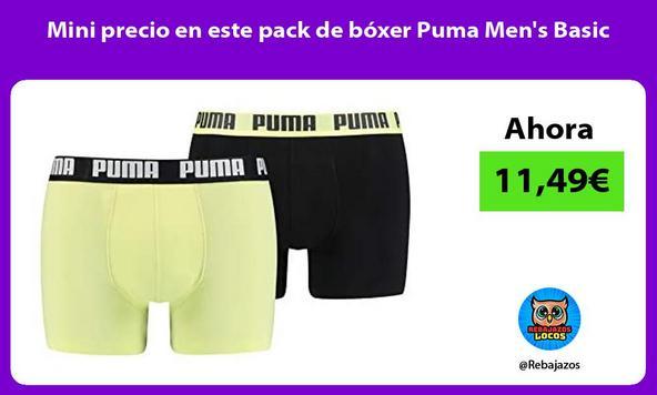 Mini precio en este pack de bóxer Puma Men's Basic