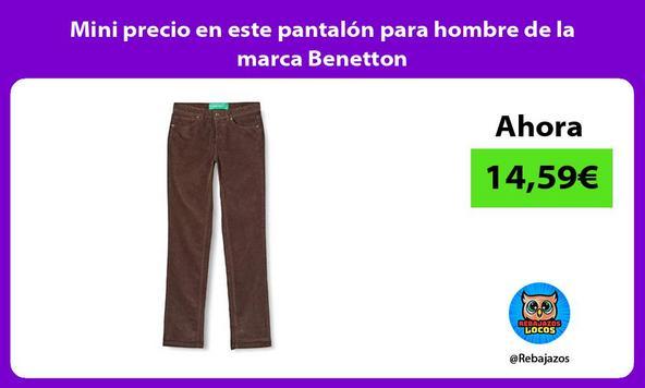 Mini precio en este pantalón para hombre de la marca Benetton