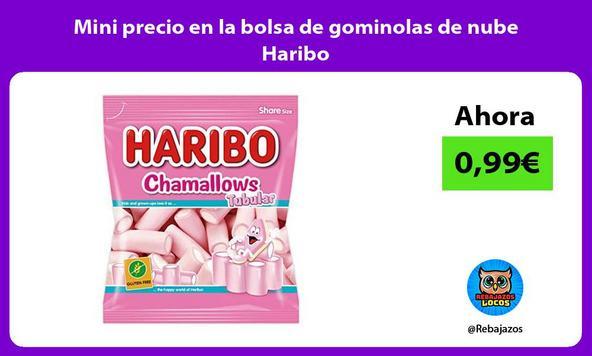 Mini precio en la bolsa de gominolas de nube Haribo