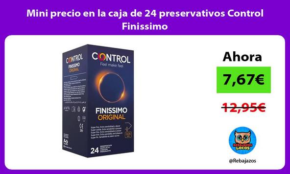 Mini precio en la caja de 24 preservativos Control Finissimo