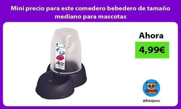Mini precio para este comedero bebedero de tamaño mediano para mascotas
