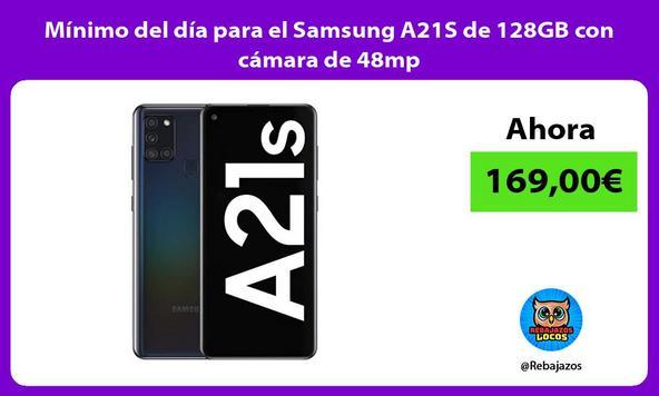 Mínimo del día para el Samsung A21S de 128GB con cámara de 48mp