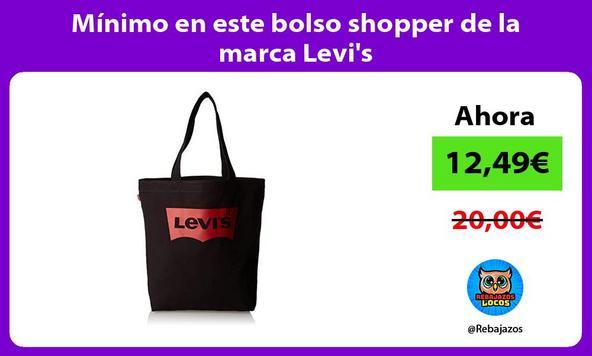 Mínimo en este bolso shopper de la marca Levi's