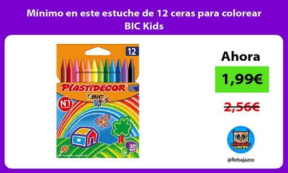 Mínimo en este estuche de 12 ceras para colorear BIC Kids