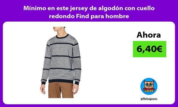 Mínimo en este jersey de algodón con cuello redondo Find para hombre