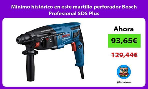 Mínimo histórico en este martillo perforador Bosch Profesional SDS Plus