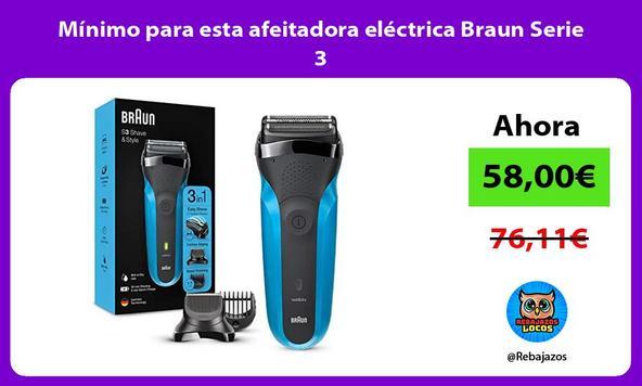 Mínimo para esta afeitadora eléctrica Braun Serie 3