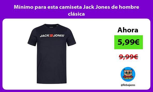Mínimo para esta camiseta Jack Jones de hombre clásica