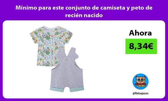 Mínimo para este conjunto de camiseta y peto de recién nacido