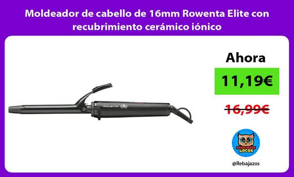 Moldeador de cabello de 16mm Rowenta Elite con recubrimiento cerámico iónico
