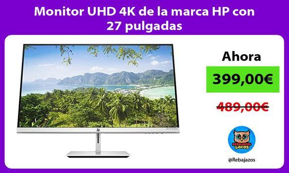 Monitor UHD 4K de la marca HP con 27 pulgadas