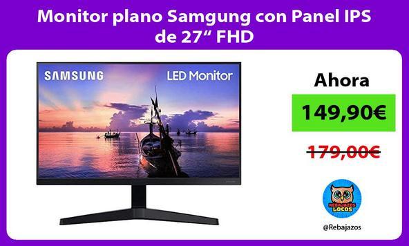 """Monitor plano Samgung con Panel IPS de 27"""" FHD"""