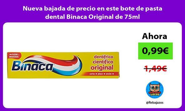 Nueva bajada de precio en este bote de pasta dental Binaca Original de 75ml