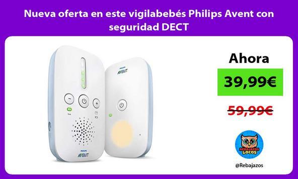 Nueva oferta en este vigilabebés Philips Avent con seguridad DECT
