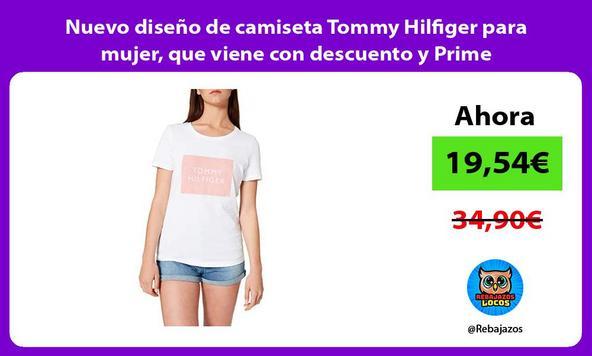 Nuevo diseño de camiseta Tommy Hilfiger para mujer, que viene con descuento y Prime