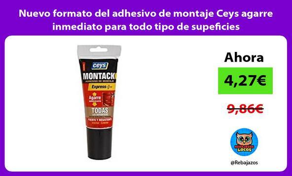 Nuevo formato del adhesivo de montaje Ceys agarre inmediato para todo tipo de supeficies