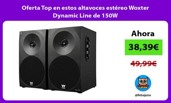 Oferta Top en estos altavoces estéreo Woxter Dynamic Line de 150W
