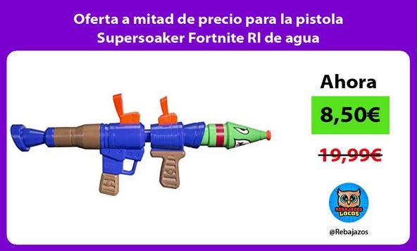 Oferta a mitad de precio para la pistola Supersoaker Fortnite Rl de agua