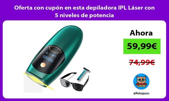 Oferta con cupón en esta depiladora IPL Láser con 5 niveles de potencia