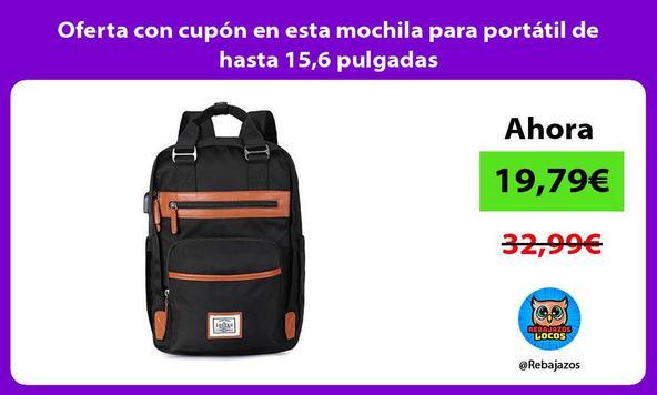 Oferta con cupón en esta mochila para portátil de hasta 15,6 pulgadas